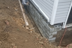 Exterior waterproofing - rebuilt foundation wall | Eco-Dry Waterproofing