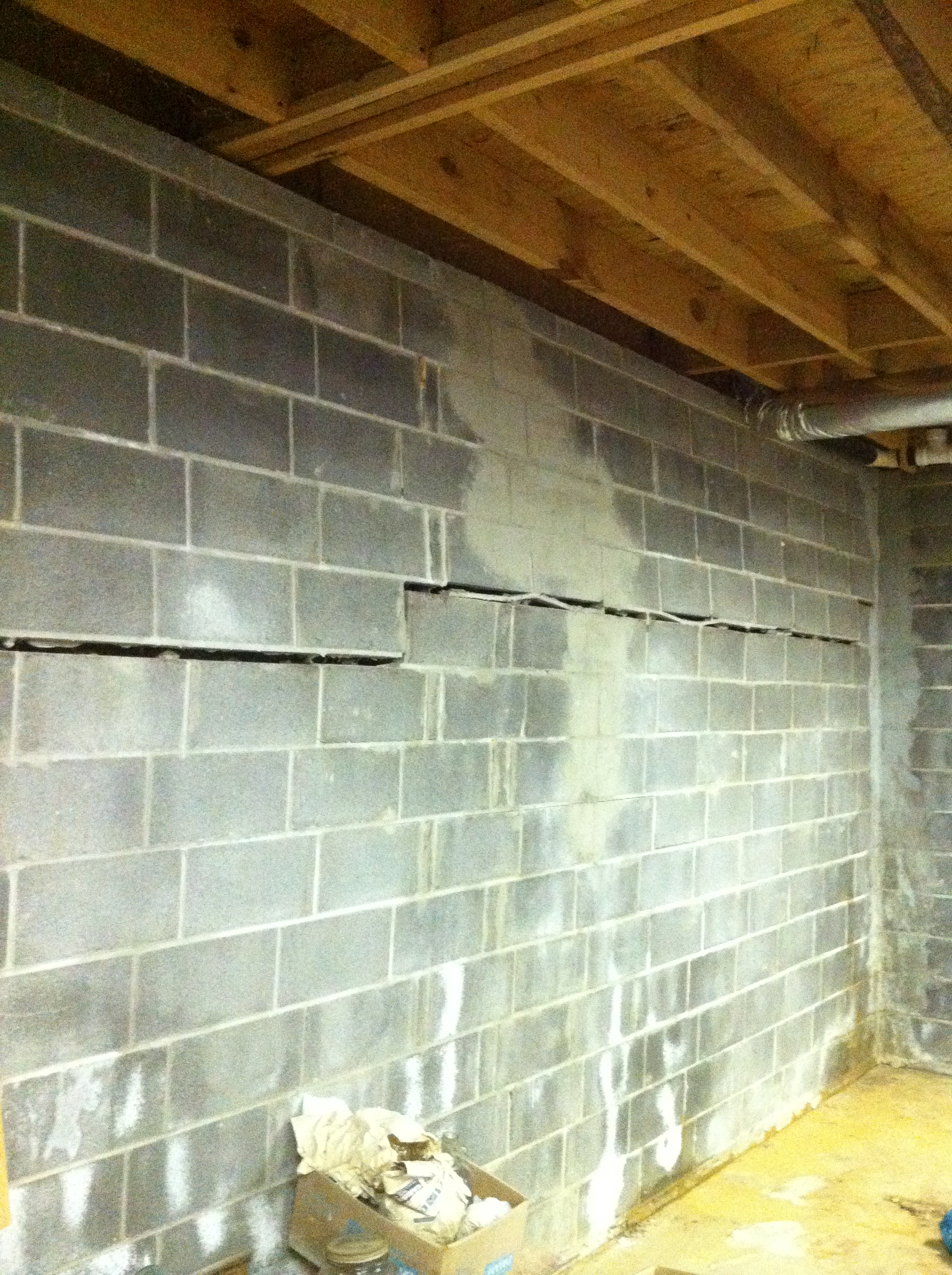Foundation Damage  Newton, NJ  Eco  Dry Waterproofing. Cracked Wall  Newton  ...