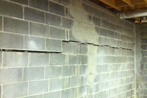 Horizontal crack caused by outside lateral pressure | Eco-Dry Waterproofing