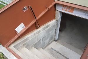Exterior waterproofing Bilco Door Entrance (angle 1) | Eco-Dry Waterproofing