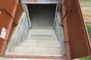 Exterior waterproofing Bilco Door Entrance (angle 2) | Eco-Dry Waterproofing