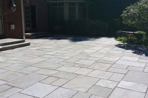 Installation of Bluestone patio | Eco-Dry Waterproofing