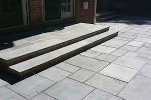 Installation of Bluestone patio - rebuilt steps | Eco-Dry Waterproofing