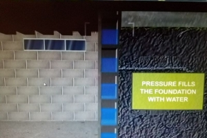 Pressure fills the foundation with water | Eco-Dry Waterproofing