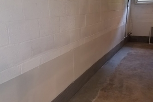 Interior french drain finished | Eco-Dry Waterproofing