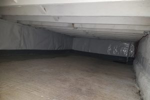 Interior french drain finished in crawl space | Eco-Dry Waterproofing