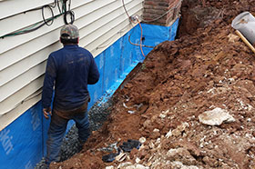 Exterior Drainage system- Newton, NJ- EcoDry Waterproofing