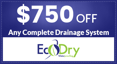 $750 Off Any Complete Drainage System